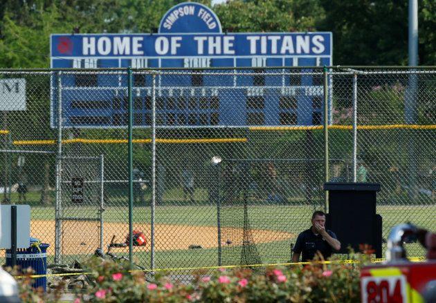 L'équipe s'entraînait pour un match baseball annuel qui devait avoir lieu jeudi à Washington, et qui...
