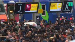 Les images de la grève dans les gares