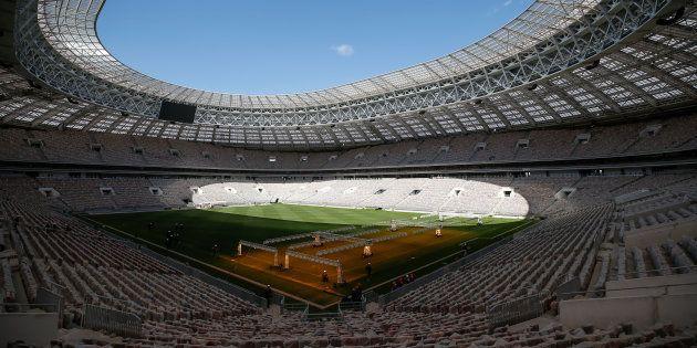 Le stade Loujniki de Moscou, théâtre de la finale de la Coup du monde 2018, en mai