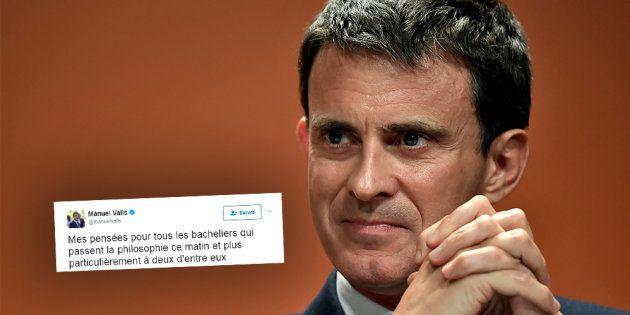 Bac 2017: Manuel Valls a une pensée particulière pour deux