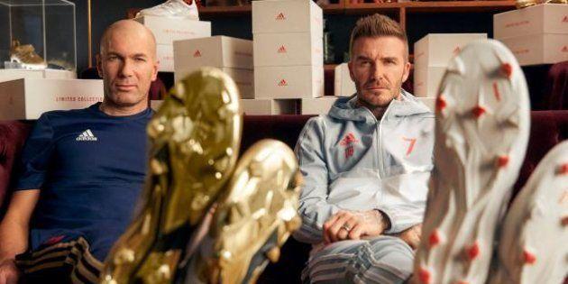 Zinedine Zidane et David Beckham réunis dans une publicité pour la réédition du