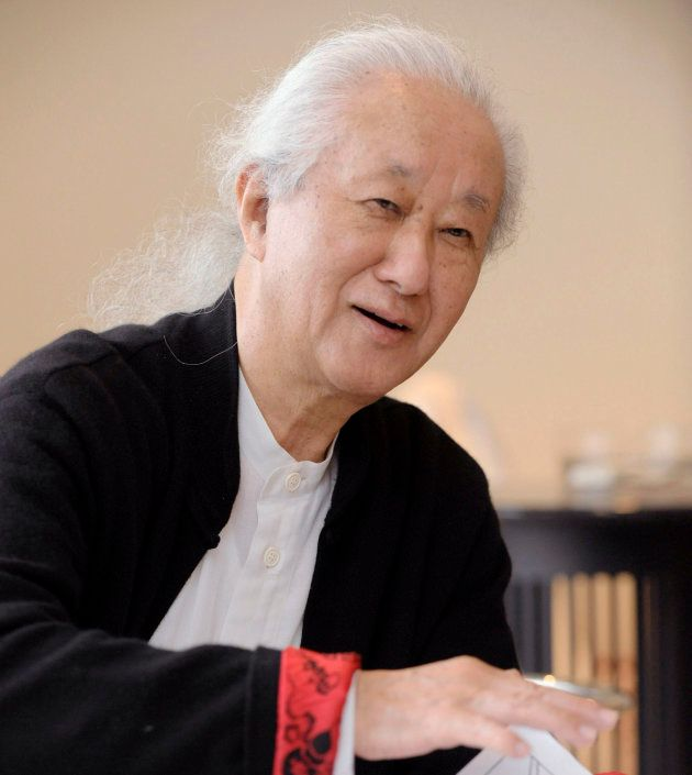 In this photo taken in 2012, architect Arata Isozaki is interviewed. Isozaki, credited with bringing...