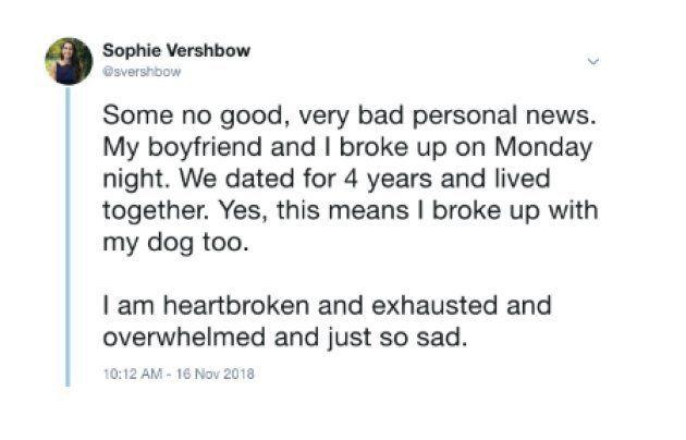 Des nouvelles très personnelles et pas follement joyeuses. Mon copain et moi nous sommes séparés lundi...