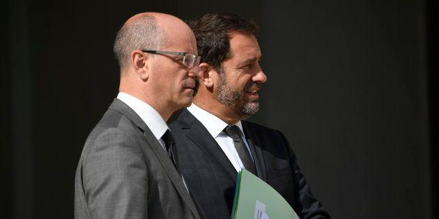 Jean-Michel Blanquer et Christophe Castaner (ici en juillet 2017) ne parviennent pas à mettre au point...