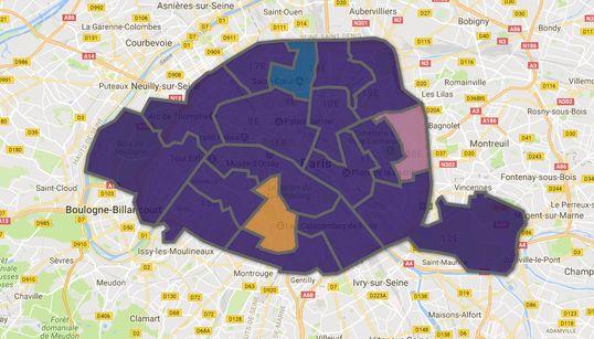 Paris comme une illustration du raz-de-marée macroniste à