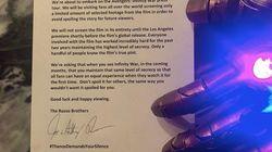 La lettre anti-spoilers des réalisateurs du prochain