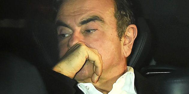 Carlos Ghosn à Tokyo le 6 mars 2019, après avoir été libéré sous caution après 108 jours de