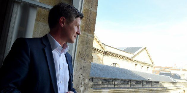 Nicolas Florian à l'hôtel de ville de Bordeaux le 5 mars