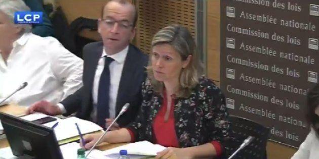 Yaël Braun-Pivet, la présidente LREM de la Commission des lois, après le rejet d'amendements pourtant...