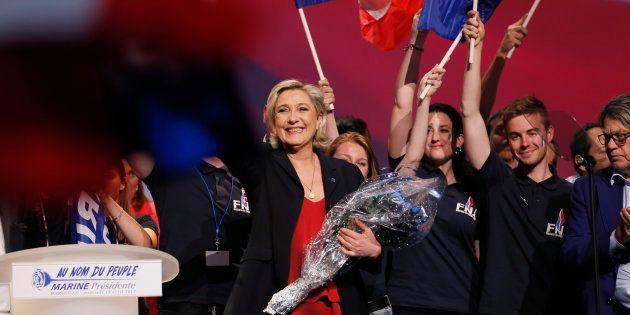 Marine Le Pen en meeting le 19 avril à