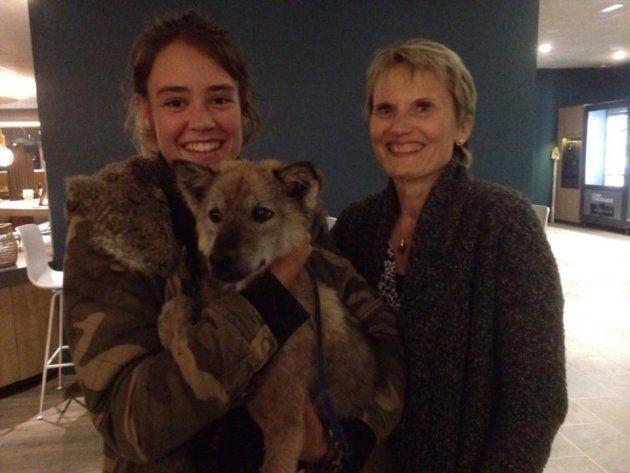 Amelia, Marlin, et Christine, qui l'a pris sous son aile durant les dix derniers jours.