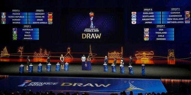 Le tirage au sort des phases de groupe de la Coupe du monde féminine de football, le 8 décembre 2018...