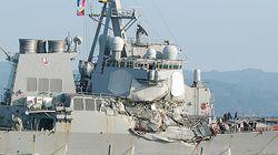 Gros dégâts sur un destroyer américain après une collision avec un navire