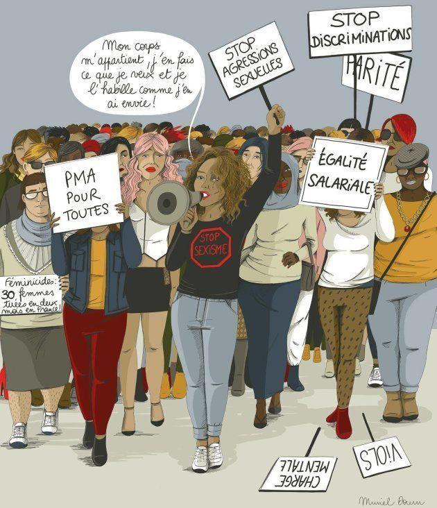 La lutte DES droits DES femmes, concerne TOUTES les femmes et c'est la condition pour que le féminisme...