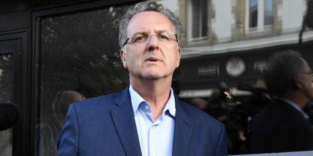 Le ministre de la Cohésion des territoires Richard Ferrand à Châteaulin, dans le Finistère, le 11