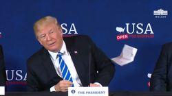 Trump trouve son discours trop