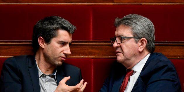 François Ruffin et Jean-Luc Mélenchon à l'Assemblée nationale le 5