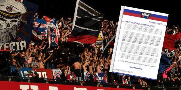 Les supporters parisiens lors du match de championnat contre