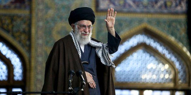 L'Ayatollah Ali Khamenei célèbre Noruz, le nouvel an iranien, le 21 mars 2018 à Mashhad, en