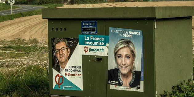 Jean-Luc Mélenchon et Marine Le Pen, deux grandes gueules qui font leur entrée à