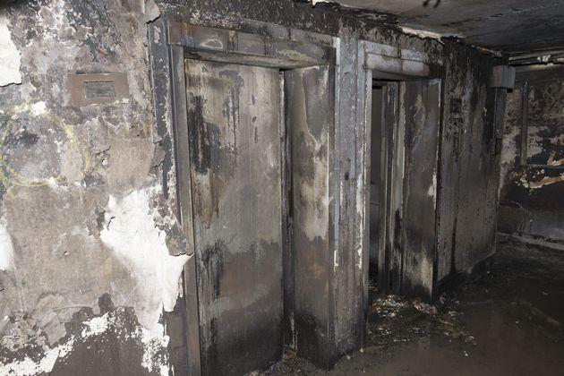 Une photo de l'intérieur de la tour Grenfell après