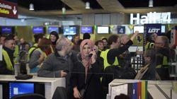 Les gilets jaunes ont tenté un flashmob à l'aéroport de