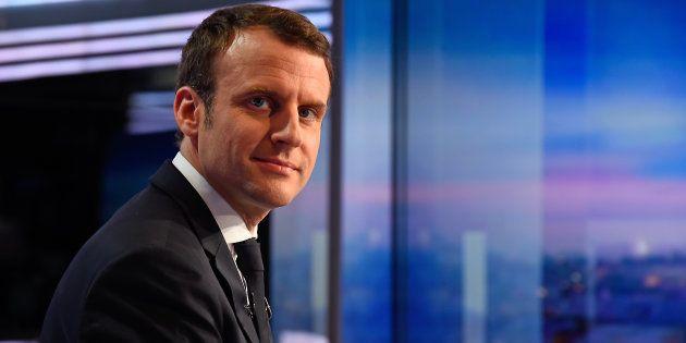 Emmanuel Macron sur le plateau du JT de