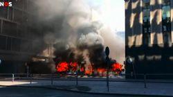 Les images impressionnantes de l'explosion d'un bus en plein