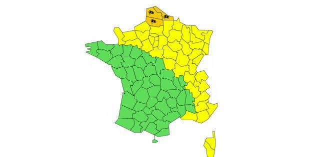 Trois départements de la région des Hauts-de-France ont été placés en vigilance orange pour vents violents...
