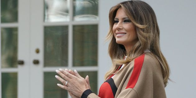 Melania Trump ici lors de la cérémonie de Thanksgiving en novembre