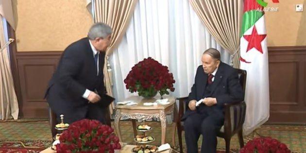Images diffusées par Canal Algérie après le renoncement d'Abdelaziz