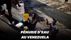 Privés d'électricité, ces Vénézuéliens forcés de recueillir les eaux