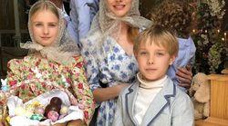 La famille Vodianova-Arnault a sorti le grand jeu pour la Pâques