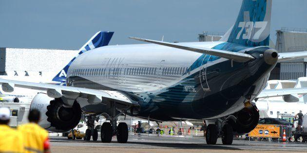 Un Boeing 737 Max sur le tarmac du Bourget en