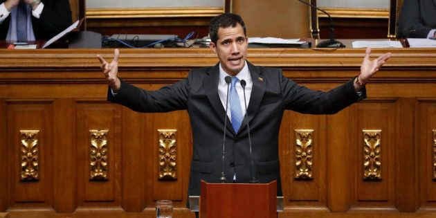 Venezuela: Juan Guaido visé par une enquête pour sabotage (Photo prise le 11 mars 2019 au