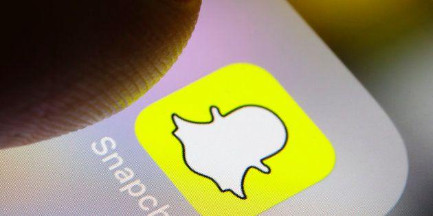 Illustration de l'application Snapchat le 14 février 2018 à Berlin en
