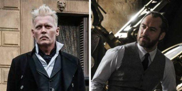 Grimelwald (Johnny Depp) et Albus Dumbledore (Jude Law), dans le