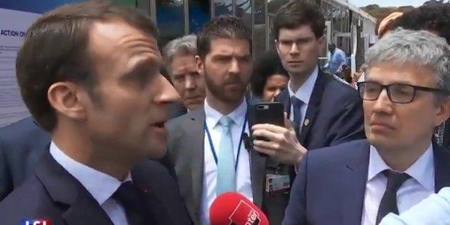 La président de la République Emmanuel Macron réagissait à l'action en justice engagée par quatre ONG...