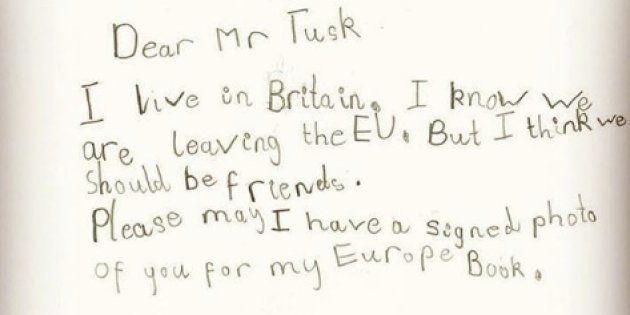 Sur Instagram, Donald Tusk a publié une photographie de l'adorable lettre de la petite