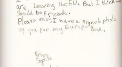 L'adorable courrier d'une Britannique de 6 ans qui veut