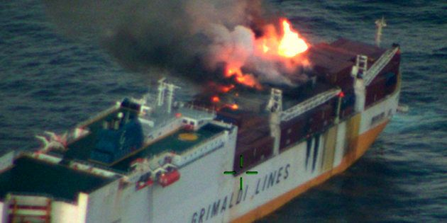 Le navire italien Grande America a fait naufrage au large des côtes