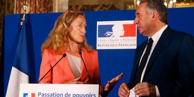Nicole Belloubet a pris la place de François Bayrou au ministère de la
