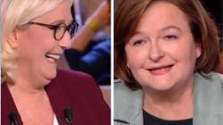 Nathalie Loiseau se déclare candidate en direct, Marine Le Pen éclate de