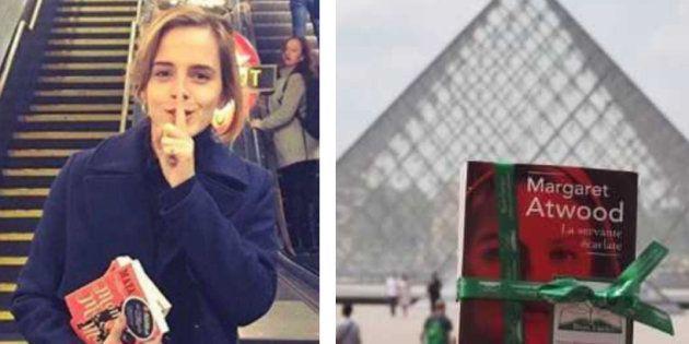 Emma Watson cache des livres à