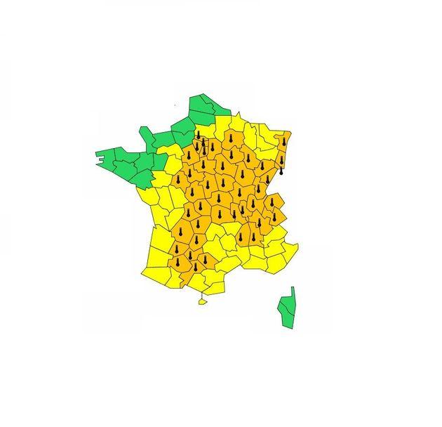 Météo France place 47 départements en vigilance orange canicule ou