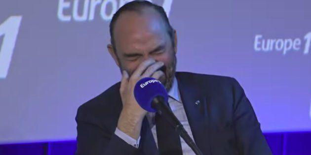 Édouard Philippe a beaucoup ri lors de la chronique matinale de Nicolas Canteloup sur Europe 1, ce vendredi...