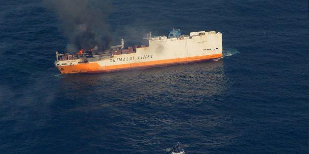 Grande America: des hydrocarbures repérés en Gironde (Photo du Grande America prise le 11 mars