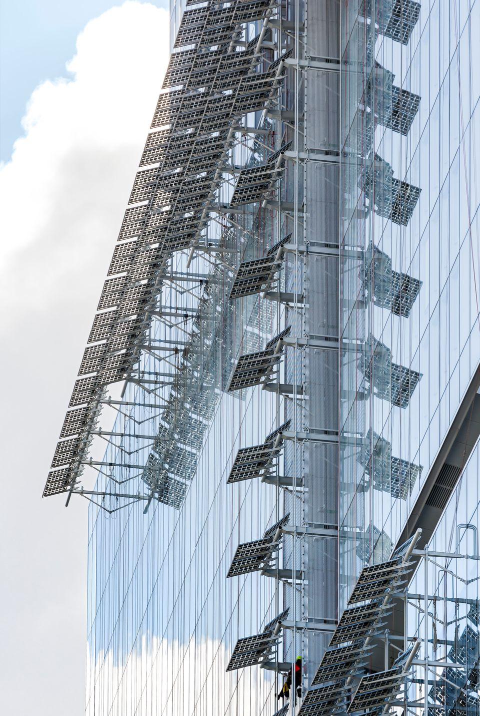 La façade du nouveau palais de justice de