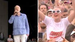 Accueilli en rock star à Glastonbury, Corbyn avait un message pour