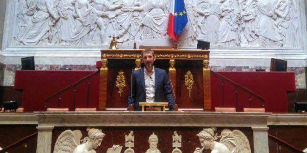 Le député LREM Matthieu Orphelin lors de sa première journée à l'Assemblée nationale, le 20 juin